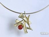 Girocollo oro giallo con corallo | Negri Gioielli Roma 100% Artigianali | handmade jewellery