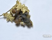 Girocollo oro giallo con calcite globulare e diamanti | Negri Gioielli Roma 100% Artigianali | handmade jewellery