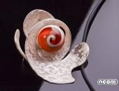 Pendente argento con vetro | Negri Gioielli Roma 100% Artigianali | handmade jewellery