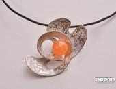 Pendente argento con agata | Negri Gioielli Roma 100% Artigianali | handmade jewellery
