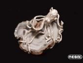 Pendente argento con calcedonio | Negri Gioielli Roma 100% Artigianali | handmade jewellery