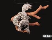 Pendente argento con corallo | Negri Gioielli Roma 100% Artigianali | handmade jewellery