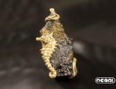 Pendente oro giallo con goethite | Negri Gioielli Roma 100% Artigianali | handmade jewellery