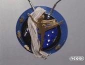 Pendente oro giallo e argento diamanti, zaffiri e lapislazzuli | Negri Gioielli Roma 100% Artigianali | handmade jewellery