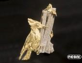 Spilla oro giallo con diamante | Negri Gioielli Roma 100% Artigianali | handmade jewellery