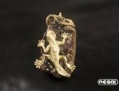 Spilla oro giallo con granato | Negri Gioielli Roma 100% Artigianali | handmade jewellery
