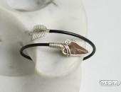 Bracciale argento con selce | Negri Gioielli Roma 100% Artigianali | handmade jewellery