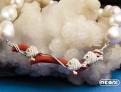 Girocollo argento con perle e corallo | Negri Gioielli Roma 100% Artigianali | handmade jewellery