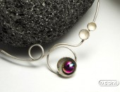 Girocollo argento con vetro dicroico | Negri Gioielli Roma 100% Artigianali | handmade jewellery