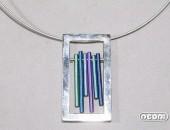 Girocollo argento e titanio | Negri Gioielli Roma 100% Artigianali | handmade jewellery
