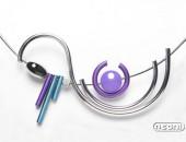 Girocollo argento e titanio con agata | Negri Gioielli Roma 100% Artigianali | handmade jewellery