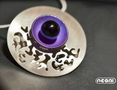 Girocollo argento e titanio con onice | Negri Gioielli Roma 100% Artigianali | handmade jewellery