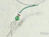 Girocollo argento e titanio con perla e agata | Negri Gioielli Roma 100% Artigianali | handmade jewellery