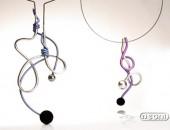 Girocollo argento e titanio con pietra lavica | Negri Gioielli Roma 100% Artigianali | handmade jewellery