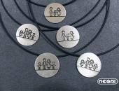 Girocollo famiglia personalizzabile | Negri Gioielli Roma 100% Artigianali | handmade jewellery
