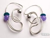 Orecchini argento con agata e titanio | Negri Gioielli Roma 100% Artigianali | handmade jewellery