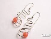 Orecchini argento con agata | Negri Gioielli Roma 100% Artigianali | handmade jewellery