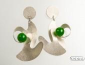 Orecchini argento con agate | Negri Gioielli Roma 100% Artigianali | handmade jewellery