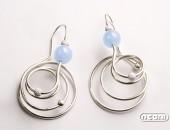 Orecchini argento con calcedonio | Negri Gioielli Roma 100% Artigianali | handmade jewellery
