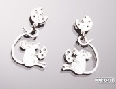 "Orecchini argento ""Funny zoo"" | Negri Gioielli Roma 100% Artigianali | handmade jewellery"
