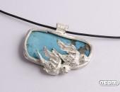 Pendente argento con turchese | Negri Gioielli Roma 100% Artigianali | handmade jewellery