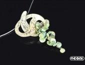 Pendente argento e bronzo | Negri Gioielli Roma 100% Artigianali | handmade jewellery