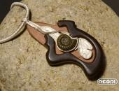 Pendente argento e ebano con fossile | Negri Gioielli Roma 100% Artigianali | handmade jewellery