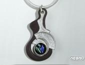 Pendenti argento e ebano viola con vetro dicroico | Negri Gioielli Roma 100% Artigianali | handmade jewellery