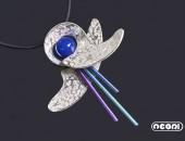 Pendente argento e tinanio con agata | Negri Gioielli Roma 100% Artigianali | handmade jewellery