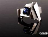 Bracciale argento con vetro dicroico | Negri Gioielli Roma 100% Artigianali | handmade jewellery