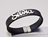 Bracciale argento e titanio rivestito | Negri Gioielli Roma 100% Artigianali | handmade jewellery