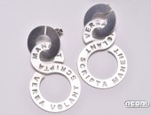 Orecchini argento personalizzabili | Negri Gioielli Roma 100% Artigianali | handmade jewellery