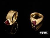 Anello Oro giallo con Tormalina | Negri Gioielli Roma 100% Artigianali | handmade jewellery