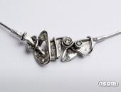 Girocollo oro bianco con diamanti | Negri Gioielli Roma 100% Artigianali | handmade jewellery